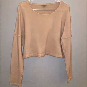 Pale pink cropped sweater